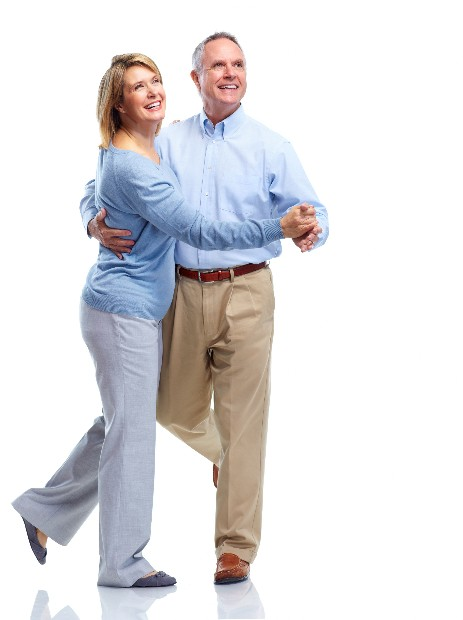 active 50+ couple dancers